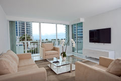 High rise living room Royalty Free Stock Image
