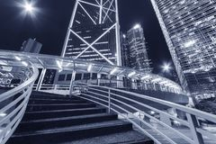 High rise modern office buildings in Hong Kong city Stock Photo