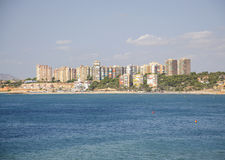 High rise ocean view properties in Campoamor. Stock Images