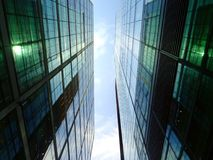 High rise office blocks  close together Royalty Free Stock Photo
