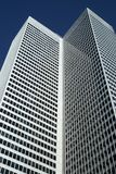 High-rise office building. Resambling an open book stock photography