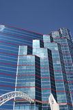 High Rise Office Building. In red, white, blue Royalty Free Stock Image