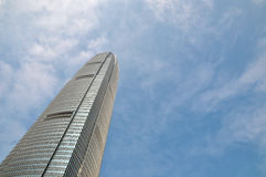 High rise office building. High rise modern office building with glass and metal in blue sky Stock Images