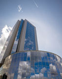 High-rise office building. Against the blue sky Royalty Free Stock Image