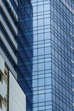 High-rise office building with big glass walls Stock Image