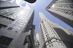 High rise office building. Upward view of high rise office buildings Stock Photography