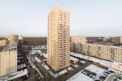 High-rise residential building in district of Moscow Royalty Free Stock Photo