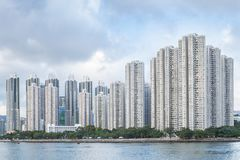 High rise residential building and harbor Royalty Free Stock Photos