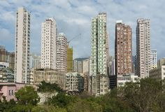 High rise residential building. In Hong Kong city stock photography