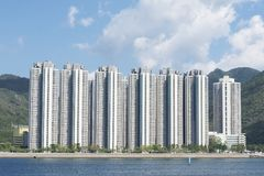 High rise residential building. In Hong Kong city royalty free stock images