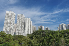 High rise residential building. In Hong Kong city royalty free stock image