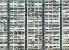 High rise residential building in Hong Kong city. Facade of high rise residential building in Hong Kong city stock photos