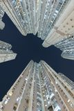 High rise residential building in Hong Kong city stock photo
