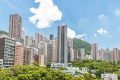High rise of Residential building in Hong Kong city. High rise of Residential building in midtown of Hong Kong city stock photography
