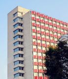 High-rise residential building. Stalinist architecture, high rise residential building in the city of Chisinau, moldova stock photo