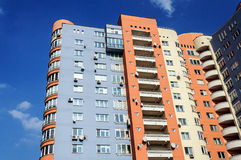 High-rise residential building, view from below Stock Image