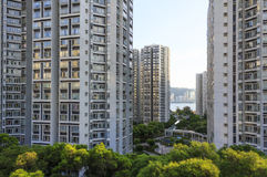 High-rise residential buildings. In Hong Kong stock image
