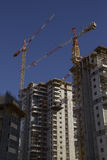 High-rise residential buildings under construction. Royalty Free Stock Photo