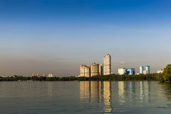 High-rise residential complex `Scarlet Sails` stock photography