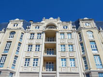 A high rise resiential house in the city of Kazan in the republic Tatarstan in Russia. A high rise resiential house in the city of Kazan in the republic royalty free stock images