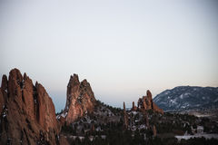 High Rise Rock Formation Stock Photography