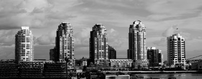 High rise row Royalty Free Stock Images