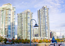High rise skyline at the marina Royalty Free Stock Images