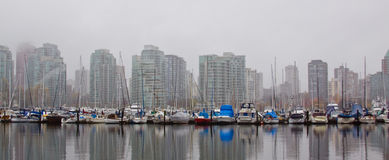 High rise skyline marina Stock Photo