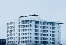 Stylish commercial architectural high rise building photograph royalty free stock image