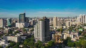 High rise Time lapse Cityscape Bangkok skyline in Thailand stock video