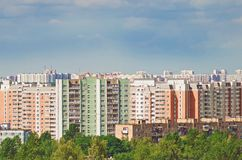High-rise residential buildings. Cityscape. stock photography