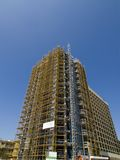 High-Rise under construction. Residential or office high-rise under construction Royalty Free Stock Photos