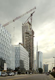 High rise under construction Stock Photo