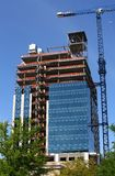 High Rise Under Construction Royalty Free Stock Photography