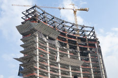 High rise under construction Royalty Free Stock Image