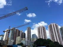 High-rise van Hongkong de bouw Stock Foto's