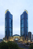 High-rise van Shanghai Xujiahui gebouwen Royalty-vrije Stock Foto's