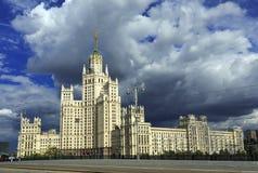 High-rise van Stalin de bouw Moskou, Rusland Royalty-vrije Stock Fotografie