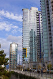 High rise in Vancouver towers Royalty Free Stock Images
