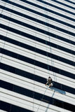High Rise Window Washer Stock Image