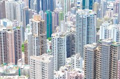 High Rises Causing Real Estate Sprawl Royalty Free Stock Photography