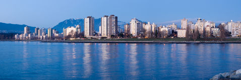 High-rises at English Bay, Vancouver, Canada Stock Photos