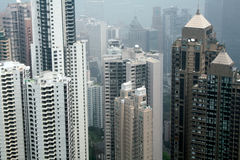 High Rises in Hong Kong. High rise offices and accomodation on Hong Kong Island Stock Photo