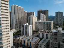 High rises in Honolulu Hawaii Royalty Free Stock Photo