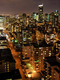 High Rises at Night. Downtown Vancouver High Rises at night Stock Photo
