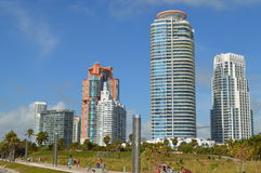High rises at South Point, Miami Beach, Florida Stock Photo