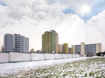 High-rises in winter Royalty Free Stock Photos