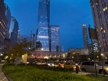 High rises at the world trade center area. At night. Manhattan New York Stock Photography