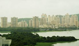 High rising buildings in an urban area. Dense urbanization in the form of high rising buildings in Mumbai , the commercial hub of India Stock Photography