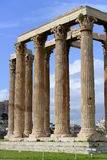High rising columns of the Zeus temple in Athens Stock Photo